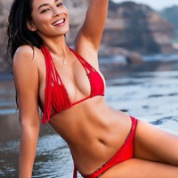 Delta Bombshell - acacia sports illustrated swimsuit edition red haena bikini