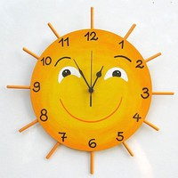 LITTLE MISS SUNSHINE Hand Painted Wall Clock by TammnoonyKids