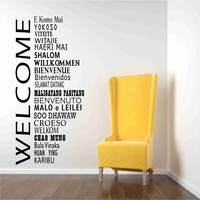 Welcome Decals In International Languages | Luulla