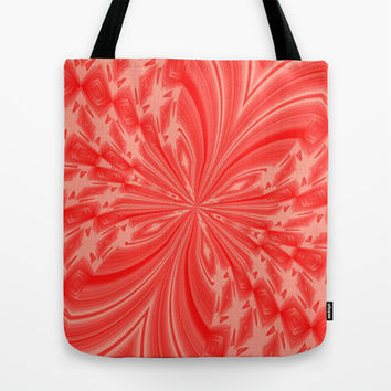 Abstract Butterfly Peach Coral Tote Bag by MargaretNewcombArt