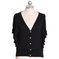 little bo peep ruffle cardi in black - &amp;#36;32.99 : ShopRuche.com, Vintage Inspired Clothing, Affordable Clothes, Eco friendly Fashion