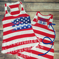 AMERICAN WOMAN MONOGRAMMED TANK – LaRue Chic Boutique