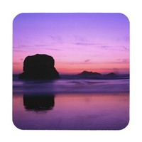 Rock Silhouetted at Twilight