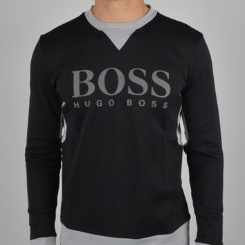 Hugo Boss Green Salco Sweatshirt 50265924 - Black
