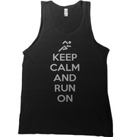 Keep Calm and Run On Mens Tank Top - running t shirt training 5k kcco tshirt workout tee runner race fitness run