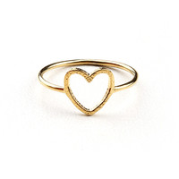 Through My Heart Ring - Heart Jewelry