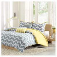 You should see this Nadia Full / Queen 5 Piece Comforter Set in Gray & Yellow on Daily Sales!