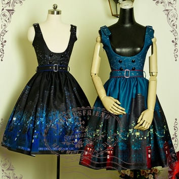 """Time Lord"" Cyber Gothic Doctor Who Underbust Dress/JSK*2colors - fanplusfriend"