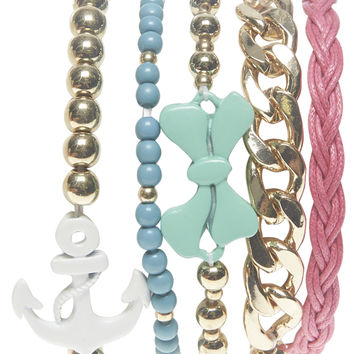 Anchor & Bow Friendship Bracelets | Wet Seal