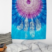 Magical Thinking Tie-Dye Dreamcatcher Tapestry - Urban Outfitters