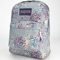 Jansport Superbreak Backpack Shady Grey Sprinkled Floral One Size For