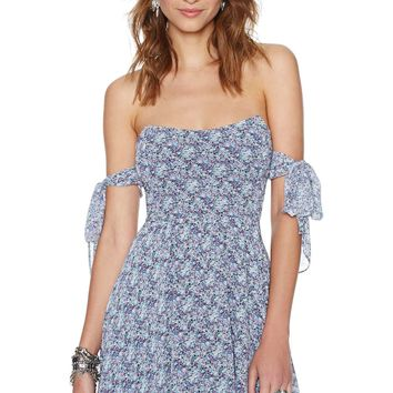 For Love and Lemons Kiss Me Dress - Blue Floral