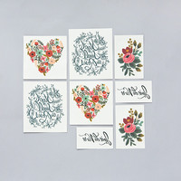 Tattly™ Designy Temporary Tattoos. Made in the USA! — Floral Set