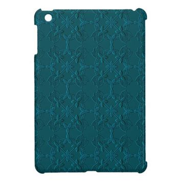 Embossed Tulip Applique TEAL iPad Mini