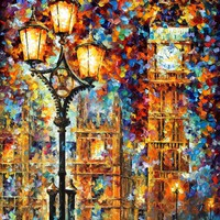 LONDON'S DREAMS— PALETTE KNIFE Oil Painting On Canvas By Leonid Afremov - Size 30x40. 10% discount coupon - deviantart10off