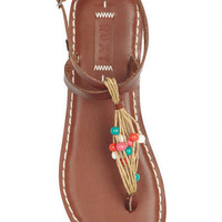 Roxy Tobago Beaded Sandals - Brown