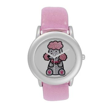 Cute Pink Glitter Puppy Watch