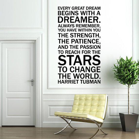 Vinyl Wall Decal Sticker Art Quote by Harriet by wordybirdstudios