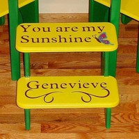 Childrens Step Stool You are my sunshine.. | GreatCustomFurniture - Children&#x27;s on ArtFire