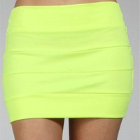 Neon Yellow Mini Skirt