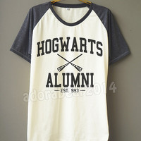 Hogwarts Alumni T-Shirt Harry Potter T-Shirt Magic Spell T-Shirt Short Sleeve Short Baseball Shirt Unisex T-Shirt Women T-Shirt Men T-Shirt