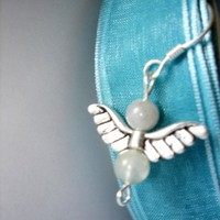 AQUA FLYING EAGLE EARRINGS by ayatasarim on Etsy