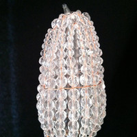 Glass Beaded Bulb Cover w/ Copper Wire by josiesfancypants on Etsy