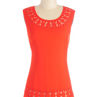 ModCloth Mid-length Sleeveless Caliente On Me Top