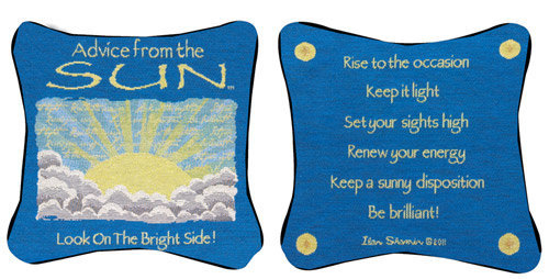 Advice From The Sun Pillow | OceanStyles.com