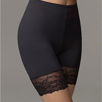 Flexees by Maidenform Fat Free Dressing Thigh Slimmer with Lace Shapewear 1255 at BareNecessities.com