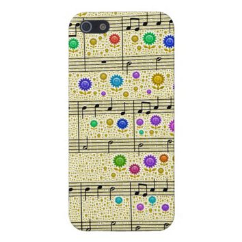 """Flowers and Music"" Word Art Phone Case"