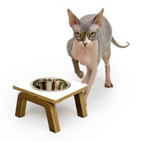 SPRING SALE - 15% OFF - Century Modern Elevated Pet Feeder // Six Retro Colors // Cat & Dog Dishes