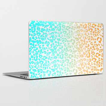 Neon Leopard Laptop & iPad Skin by Monika Strigel | Society6