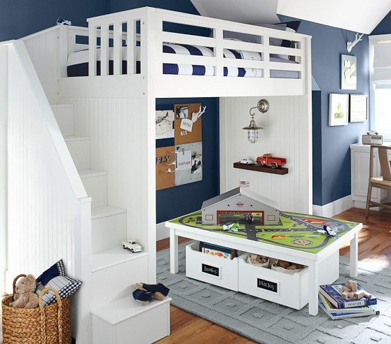 Pottery Barn Loft Bed Catalina Stair Loft Bed Pottery Barn