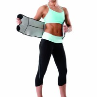 Valeo Contoured Shaping Slimmer Belt, Black