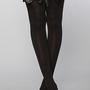 Foot Traffic The Opaque Thigh High With Bow Garter : Karmaloop.com - Global Concrete Culture