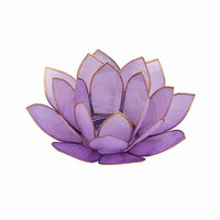 Lotus Shell Tealight Holder in Lavender - Set of 3