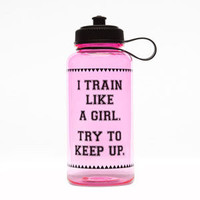 Train Like A Girl Water Bottle Pink One Size For Women 23927835001