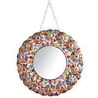 Product Details - Beaded Round Mirror