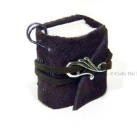Soft Purple Suede Leather Journal Book Charm for Necklace or Key Chain | CraftyDayDreams - Jewelry on ArtFire
