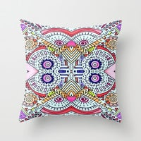 Fiesta Throw Pillow by DuckyB (Brandi)