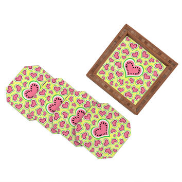 Lisa Argyropoulos Watermelon Love Sunny Yellow Coaster Set - 4 Coasters