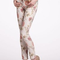 Pilcro Floral Ikat Stet Slim - Anthropologie.com