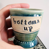 Bottoms Up Bottoms Up Cute little Ceramic Shot by ArtHausCeramics