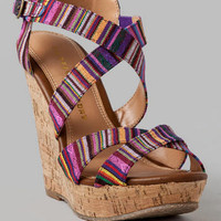 CHINESE LAUNDRY SHOES, MARIANNE PRINTED WEDGE