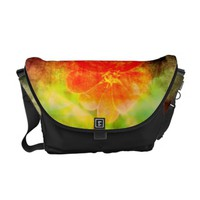 Artistic Red Flower Messenger Bag