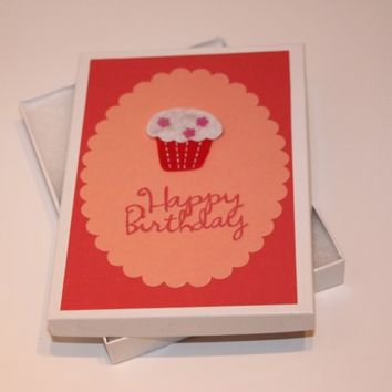 Happy Birthday & Cupcake Cardstock