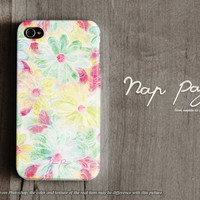 Apple iphone case for iphone iphone 5 iphone 5s iphone 5c iphone 4 iphone 4s iPhone 3Gs : abstract vintage colorful flowers