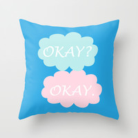 Okay Okay - Thyroid Cancer Awareness Colours Blue Pink and Teal, The Fault in Our Stars Throw Pillow by BeautifulHomes | Society6
