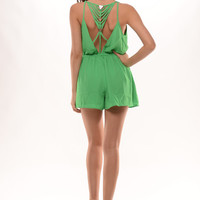 3 Triangle Romper - Green